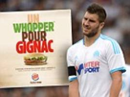 Andre-Pierre Gignac mocked by French Burger King in new 'whopper' ad campaign