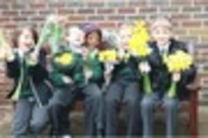 Banstead pupils give flowers to elderly people's homes